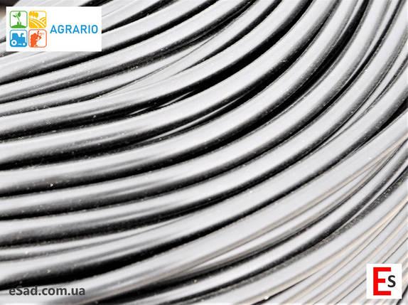Кембрик - агрошнурок, агротрубка Аграрио - Agrario 6 мм, 5 кг, ПВХ черный, фото 2