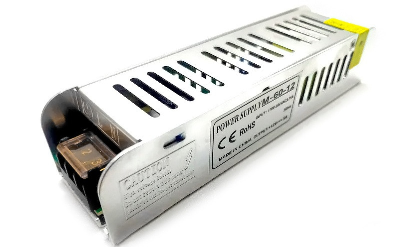 Блок живлення 12V 60W 5A M-60-12