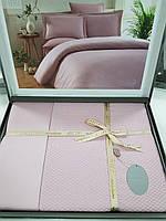 Комплект постельного белья ELITA евроразмер, натуральный 100% бамбук, пудра розовый, Турция