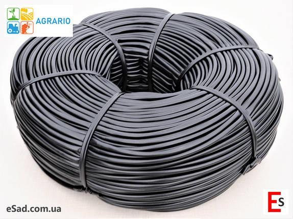 Кембрик - агрошнурок, агротрубка Аграріо - Agrario 7 мм, 5 кг, ПВХ чорний, фото 2