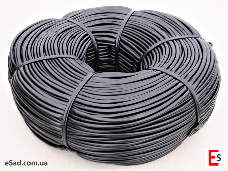 Кембрик - агрошнурок, агротрубка Аграріо - Agrario 7 мм, 5 кг, ПВХ чорний