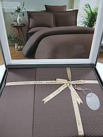 Комплект постельного белья ELITA евроразмер, натуральный 100% бамбук, шоколадный, Турция
