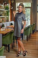 Платье-двойка с кружевом большого размера, размеры 44, 46, 48