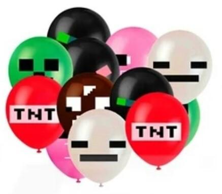 Кульки, 30см, 10шт. Майнкрафт Minecraft