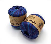 Fibranatura Raffia Multi меланж синій