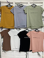 Качественная летняя женская футболка. Женская одежда.