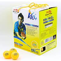 Набор мячей для настольного тенниса (100 шт) DOUBLE FISH d-40мм 510280
