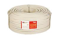 Провод ПВС 4х2,5 мм², 100м. белый, Слобожанский кабельный завод, бухта