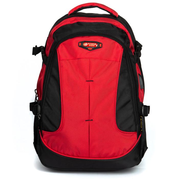Стильный мужской рюкзак цвет красный материал нейлон 31*45*20см Power In Eavas (9648 red)
