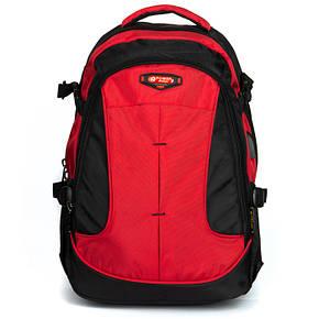 Стильный мужской рюкзак цвет красный материал нейлон 31*45*20см Power In Eavas (9648 red), фото 2