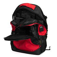 Стильный мужской рюкзак цвет красный материал нейлон 31*45*20см Power In Eavas (9648 red), фото 3