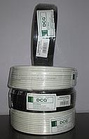 Кабель телевізійний 100 м DCG RG-6 black, фото 1
