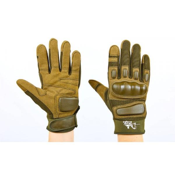 Перчатки тактические с закрытыми пальцами SILVER KNIGHT (оливковый) Размер: L
