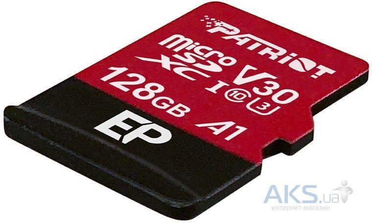 Карта пам'яті PATRIOT EP A1 V30 UHS-I U3 128 GB microSDXC Class 10 SD адаптер (PEF128GEP31MCX)