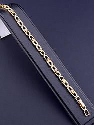 Браслет цепочка на руку позолота украшен фианитами длина 18 см XUPING