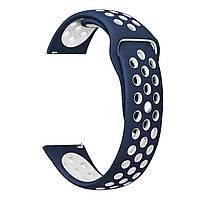 Ремешок BeWatch Nike-style 20 мм для смарт-часов Xiaomi amazfit BIP Сине-белый (1010152)