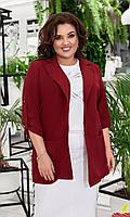 Стильный женский пиджак большого размера 3 цвета 50-52, 54-56, 58-60