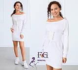 """Трикотажное платье с корсетом """"Aysel"""", фото 4"""