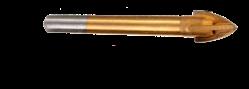 Сверло для плитки и стекла, (крест)(титан),4мм