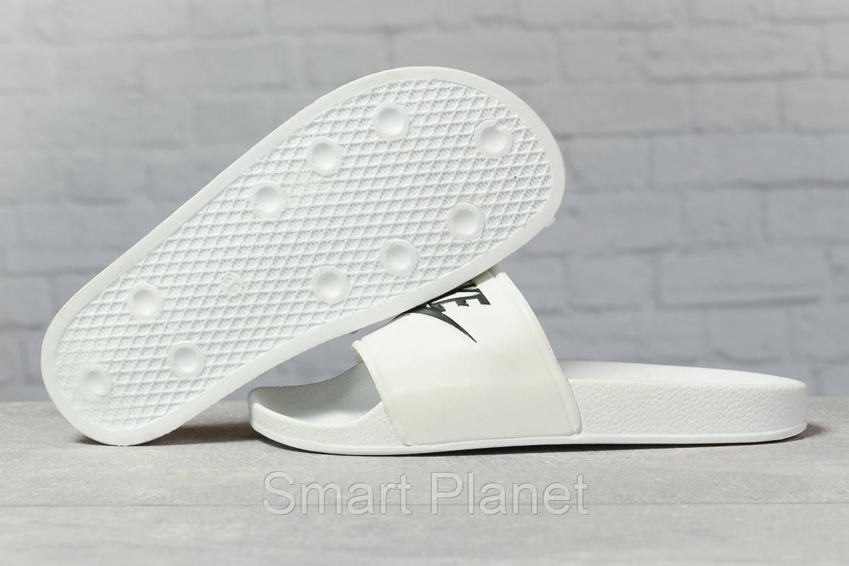 Шлепанцы женские 17351, Nike, белые, < 36 37 38 39 40 > р. 38-24,0см.