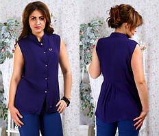 Женская блуза с коротким рукавом   (баталы) код 126 Б, размер 52-54