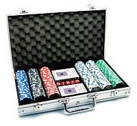 Покерный набор на 300 фишек в алюминиевом кейсе