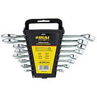 Ключи рожково-накидные 8шт 6-19мм CrV head polished Sigma (6010191)