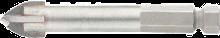 Сверло по керамограниту с шестигр. хвостовиком (+) 6мм