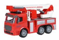 Инерционная машинка same toy truck 98-617aut Пожарная машина с подъемным краном