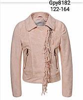 Куртка кожзам для девочек Glo-Story оптом, 122/128-158/164 рр. Артикул: GPY8182