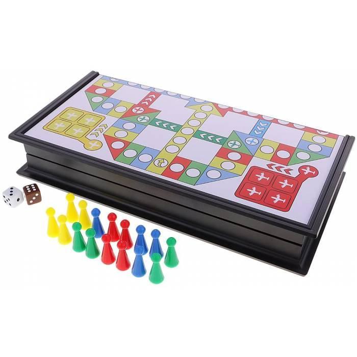 MonkeyJack Складана дошка з кубиками для сімейної вечірки (для 2 ~ 4 гравців) шаховий набір