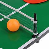 Міні портативний настільний теніс, пінг-понг настільна гра набір для дітей, фото 4