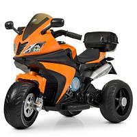 Мотоцикл M 4195EL-7 (1шт) 2мотора35W, 2аккум6V4,5AH, муз, свет,MP3, TF, USB,колEVA,кож.сид, оранж, фото 1