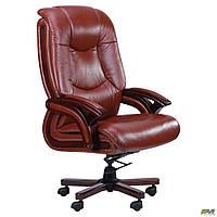 Кресло для офиса для компьютера Ванкувер кожа коричневая (625-B+PVC) офисное для руководителя кожаное