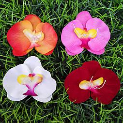 Головка орхидеи 13 см бархат (10 шт в уп)