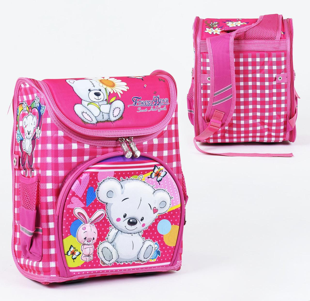 + Подарок Детский школьный рюкзак 777 каркасный 3D принт, 1 отделение, 3 кармана