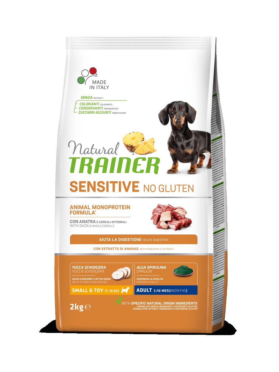 Сухой корм Natural Trainer Dog Sensitive Small&Toy Adult Mini With Duck для взрослых собак мини пород 2 кг