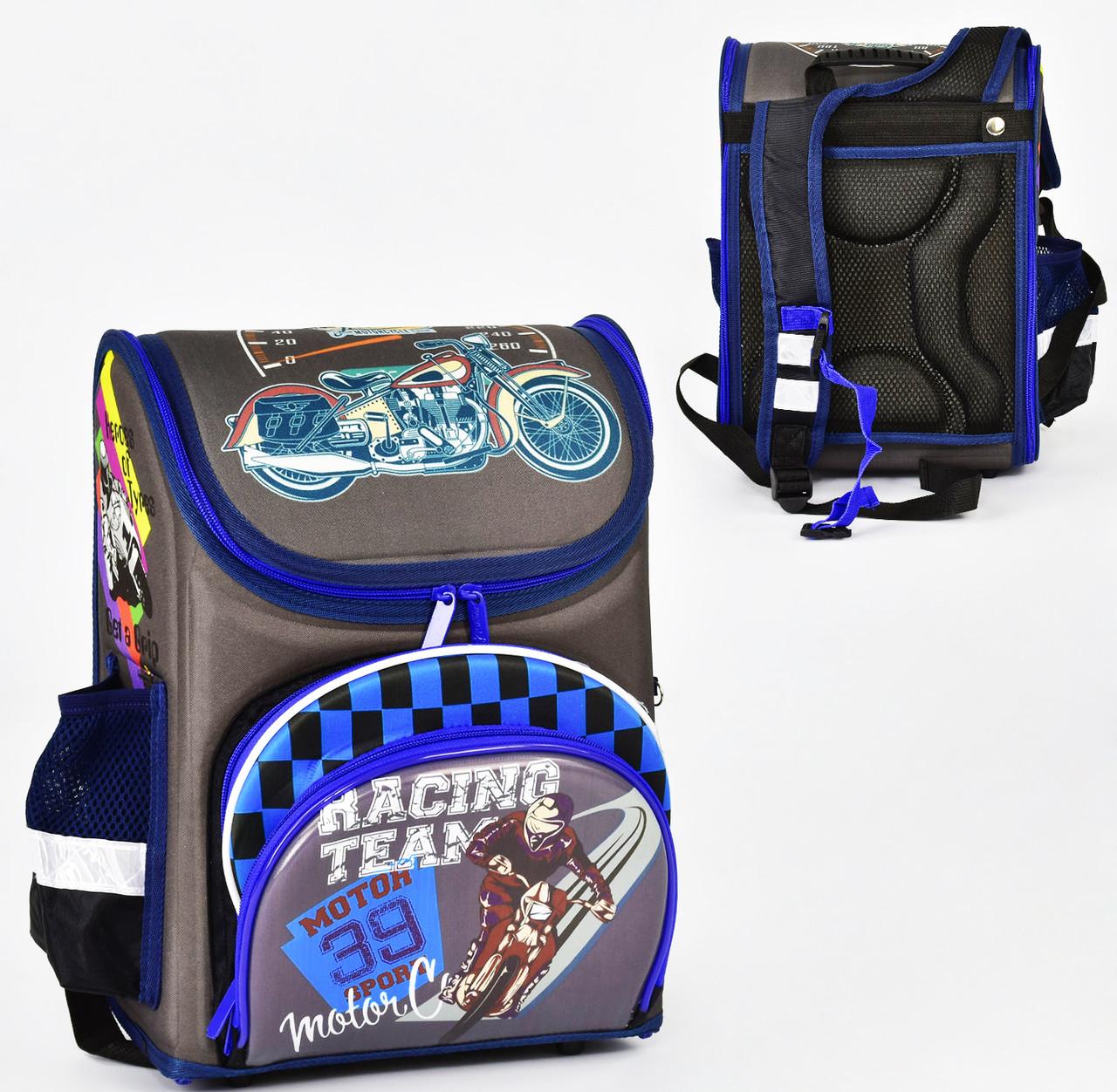 Дитячий шкільний рюкзак 782 каркасний 3D принт, 1 відділення, 3 кишені