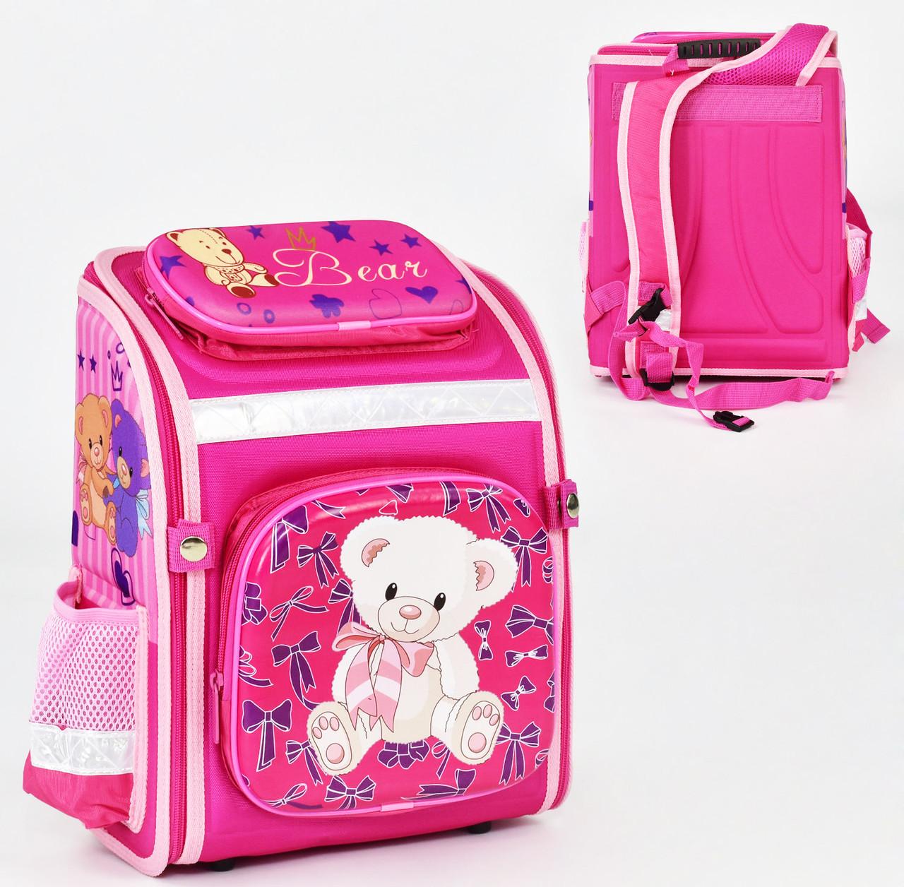 + Подарок Детский школьный рюкзак 785 каркасный 3D принт, 1 отделение, 3 кармана