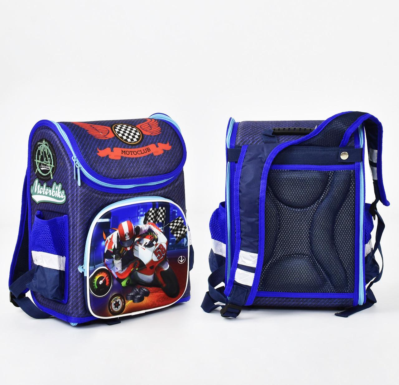 + Подарок Детский школьный рюкзак 786 каркасный 3D принт, 1 отделение, 3 кармана