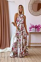 """Длинное летнее платье-сарафан """"Margo"""" с карманами и открытой спиной (4 цвета)"""