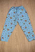 Детская пижама голубая олененки зайчики полотно интерлок, фото 3