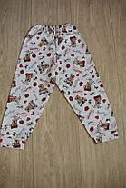 Детская пижама белая с мишками полотно интерлок, фото 3