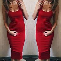 Платье женское (42/46 универсал) однотон (черный, серый,красный,бордо,электрик) СП, фото 1