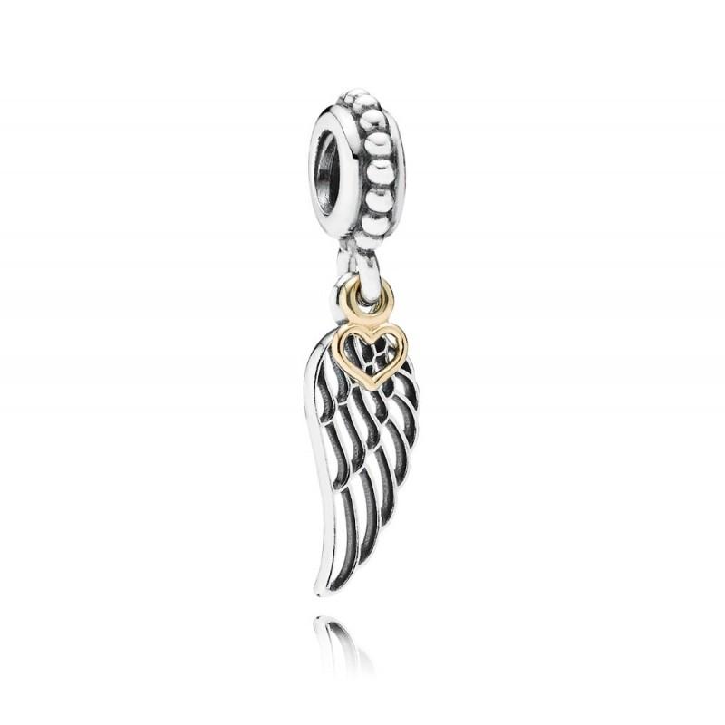 Подвеска-шарм «Путь любви» из серебра 925 пробы с золотом в стиле Pandora