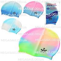 Шапочка для плавания MingKang силиконовая: микс цветов