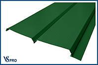 Сайдинг фасадный металлический Евро-Брус, RAL 6002 Цвет Лиственно-зеленый (глянец).
