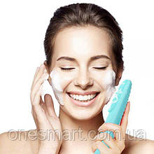 Jeos Silicone Facial Cleansing Brush IPX7 Waterproof Mini Magnetic Rechargeable Massager with 10