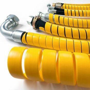 Пружинная пластиковая защита на РВД 20-25, толщина 2 (HG-25Y ) (желтая)