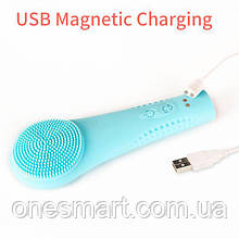 Misia Silicone Facial Cleansing Brush IPX7 Waterproof Magnetic Rechargeable Massager with 10 Skincare Modes